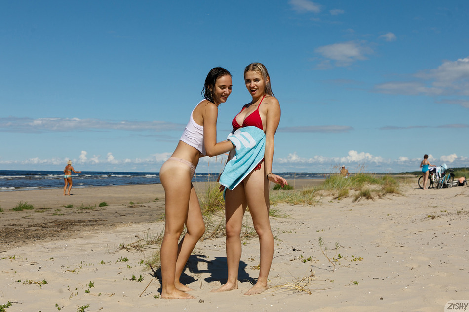 Two Girls One Swimsuit - 6